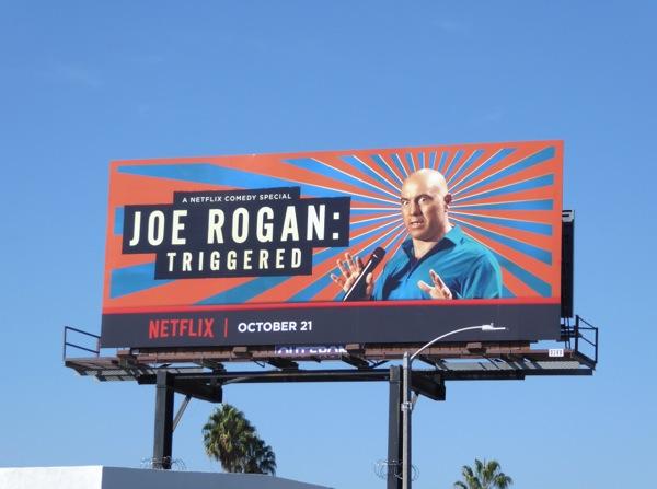 Joe Rogan Triggered billboard