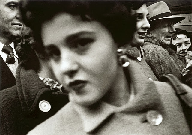 William Klein, Big Face, Big Buttons, New York, 1955