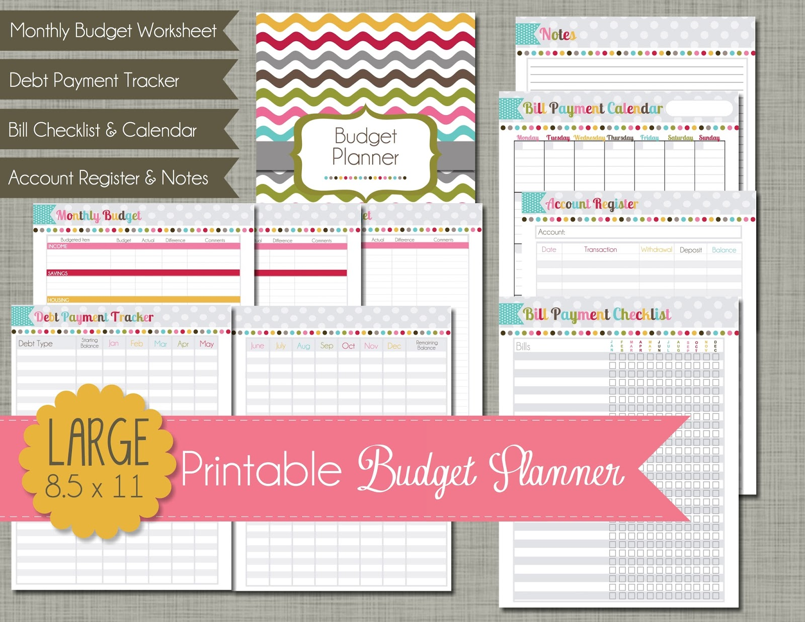 The Polka Dot Posie Month 1 Creating A Budget Planner