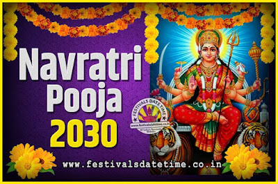 2030 Navratri Pooja Date and Time, 2030 Navratri Calendar