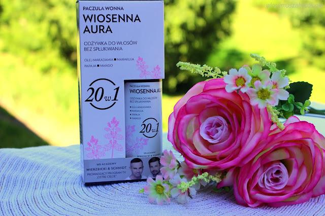 """Wierzbicki & Schmidt – WS Academy – Odżywki do włosów bez spłukiwania 20w1 """"Poranna rosa"""" i """"Wiosenna aura"""""""