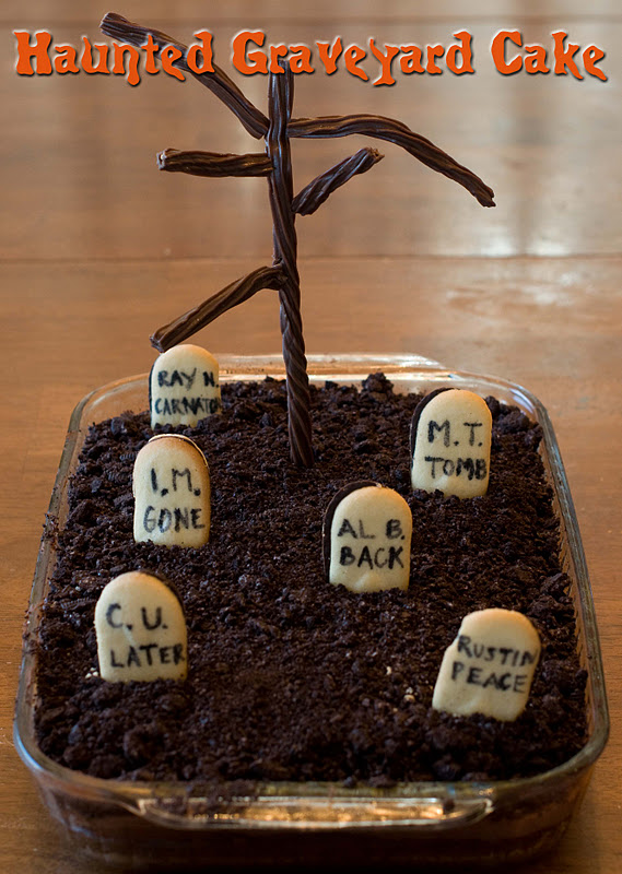How To Make A Graveyard Cake