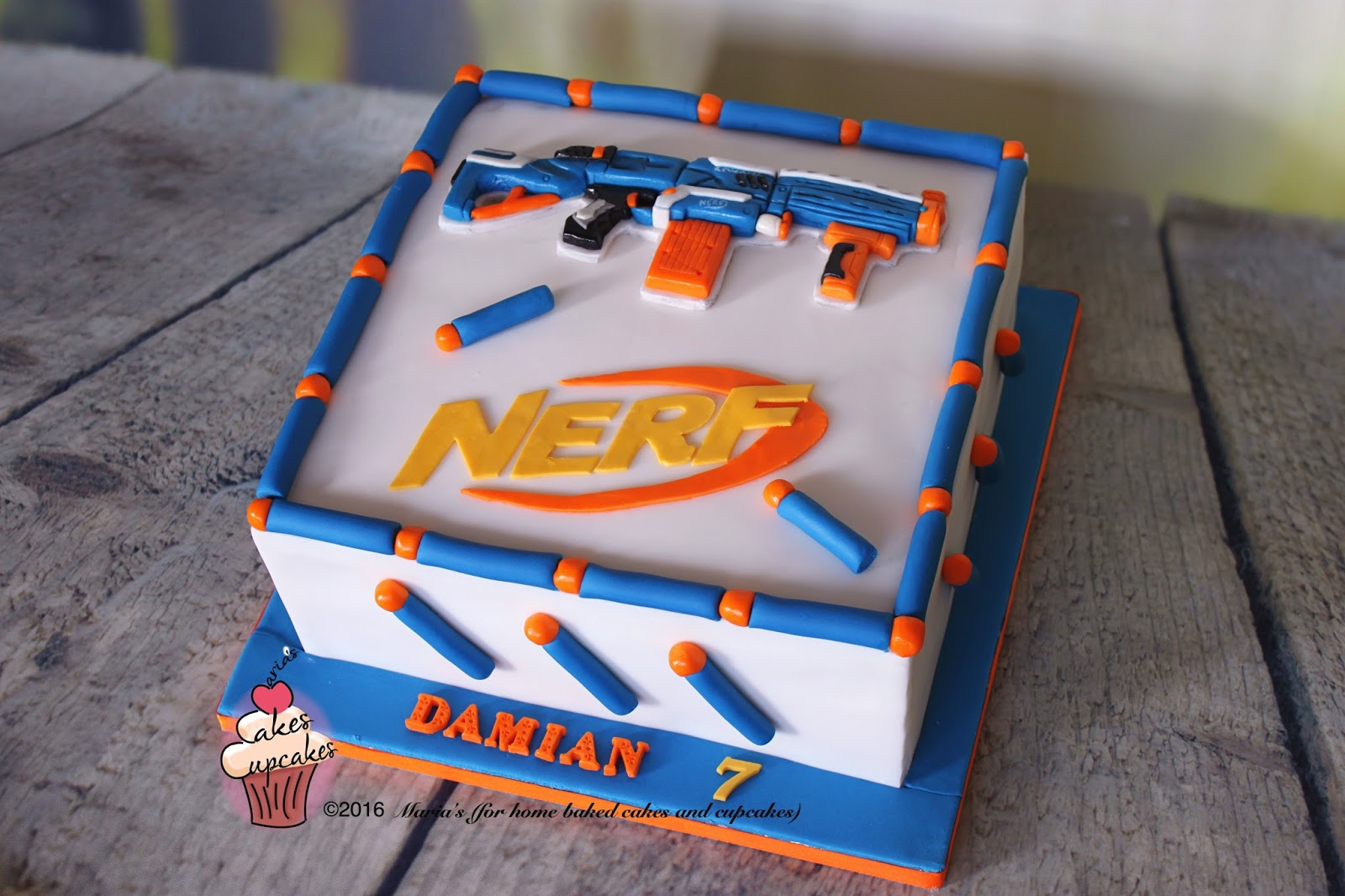 Nerf Birthday Cake Decorations Image Inspiration of Cake and