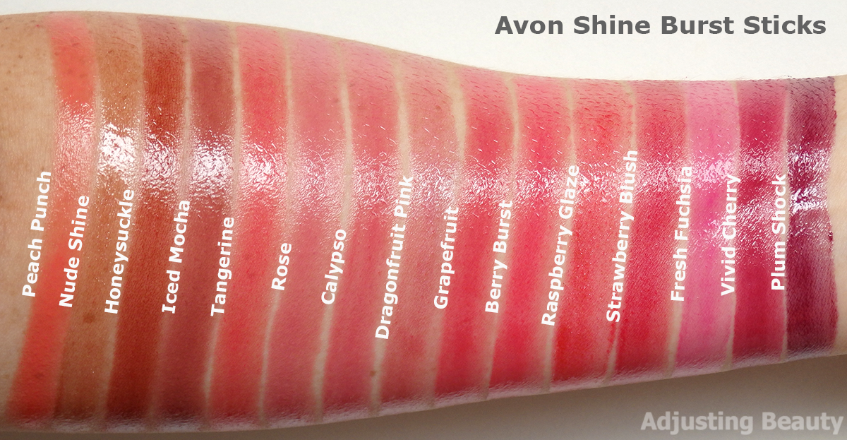 Review Avon Shine Burst Gloss Sticks All Shades Adjusting Beauty