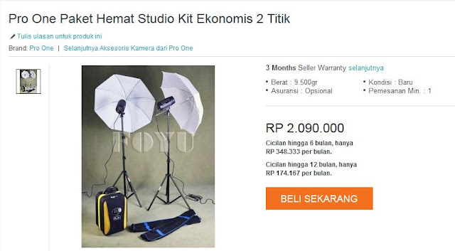 Wujudkan Mimpi menjadi Scott Kelby di #DiskonMengguncangSemesta Harbolnas Lazada Indonesia Pro One paket studio kit
