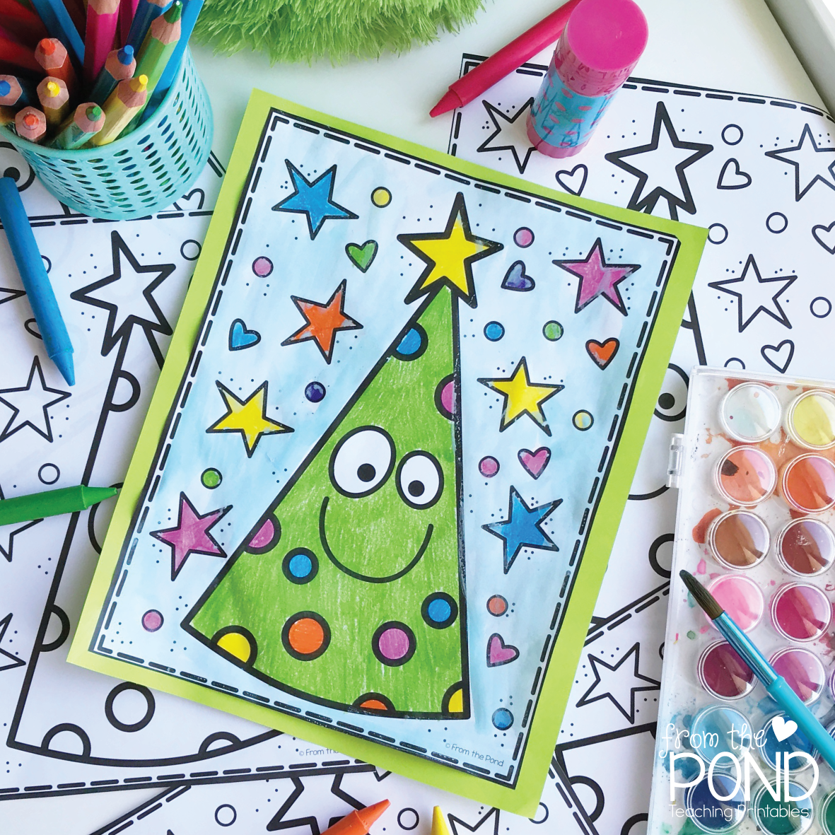 Christmas Tree Coloring Page | From the Pond