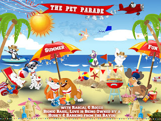 Pet Parade Blog Hop summer badge