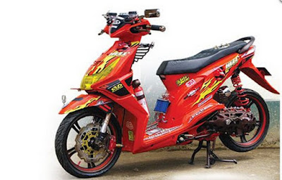 Modif Beat Fi Warna Merah Simple