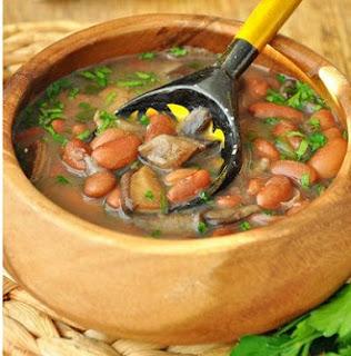 рецепт быстрого фасолевого супа с грибами