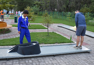Miniature Golf course in Pyongyang, North Korea