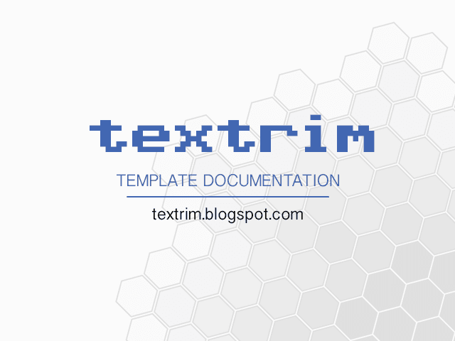 Textrim Blogger Theme Free Download
