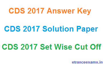 CDS 1 Answer Key 2017