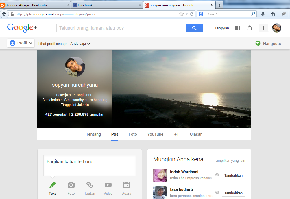ganti photo profile g+ serp blogger selalu sirna