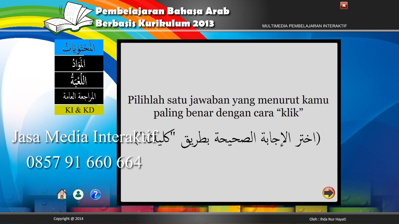 57 Portofolio Media Interaktif Game Puzzle Bahasa Arab Jasa Media Interaktif