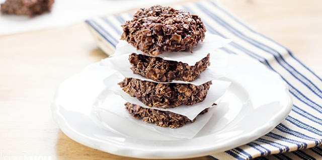 No Bake Chocolate Protein Cookies , weight watchers recipes , 5 smart points