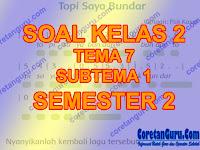 Soal Tematik Kelas 1 Tema 7 Subtema 1 Kurikulum 2013 Dan Kunci Jawaban