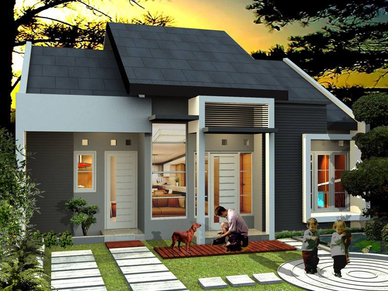 Desain Rumah Minimalis 1 Lantai Dengan Taman Unik