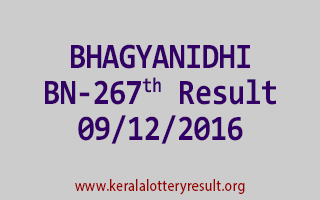 BHAGYANIDHI BN 267 Lottery Results 9-12-2016