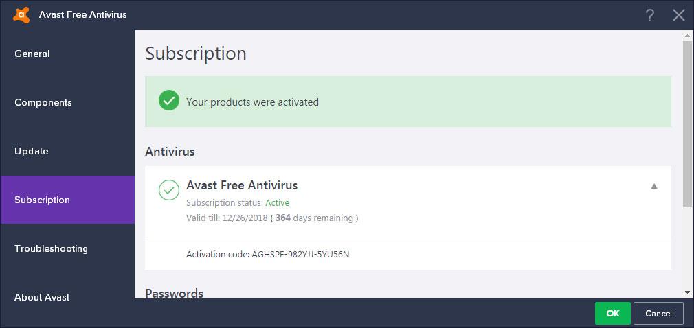 Avast Antivirus Free License Key for 1 Year 2019 - Best ...