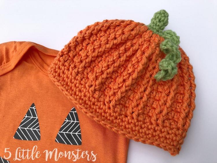 5 Little Monsters  Post Stitch Baby Pumpkin Hat 5c362d2b086