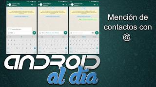 WhatsApp contactos con @