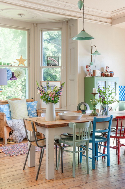 Dining Rooms With Mixed Chairs 7