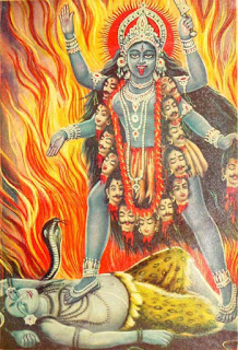 Poster of the Goddess Kali, provenance unknown to me