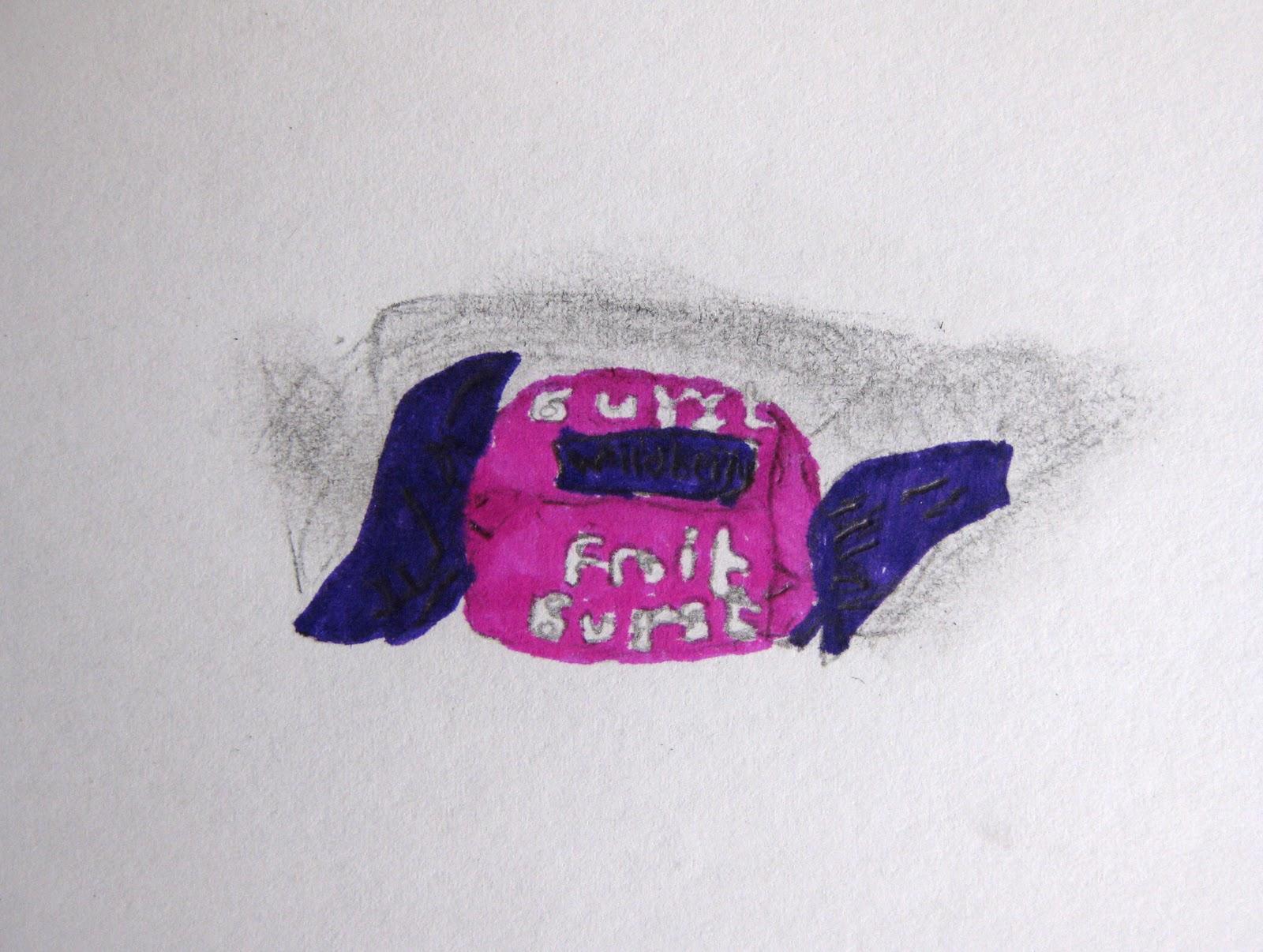 Hayley's Still-life Lollie Drawing | MEGANZ School of Visual