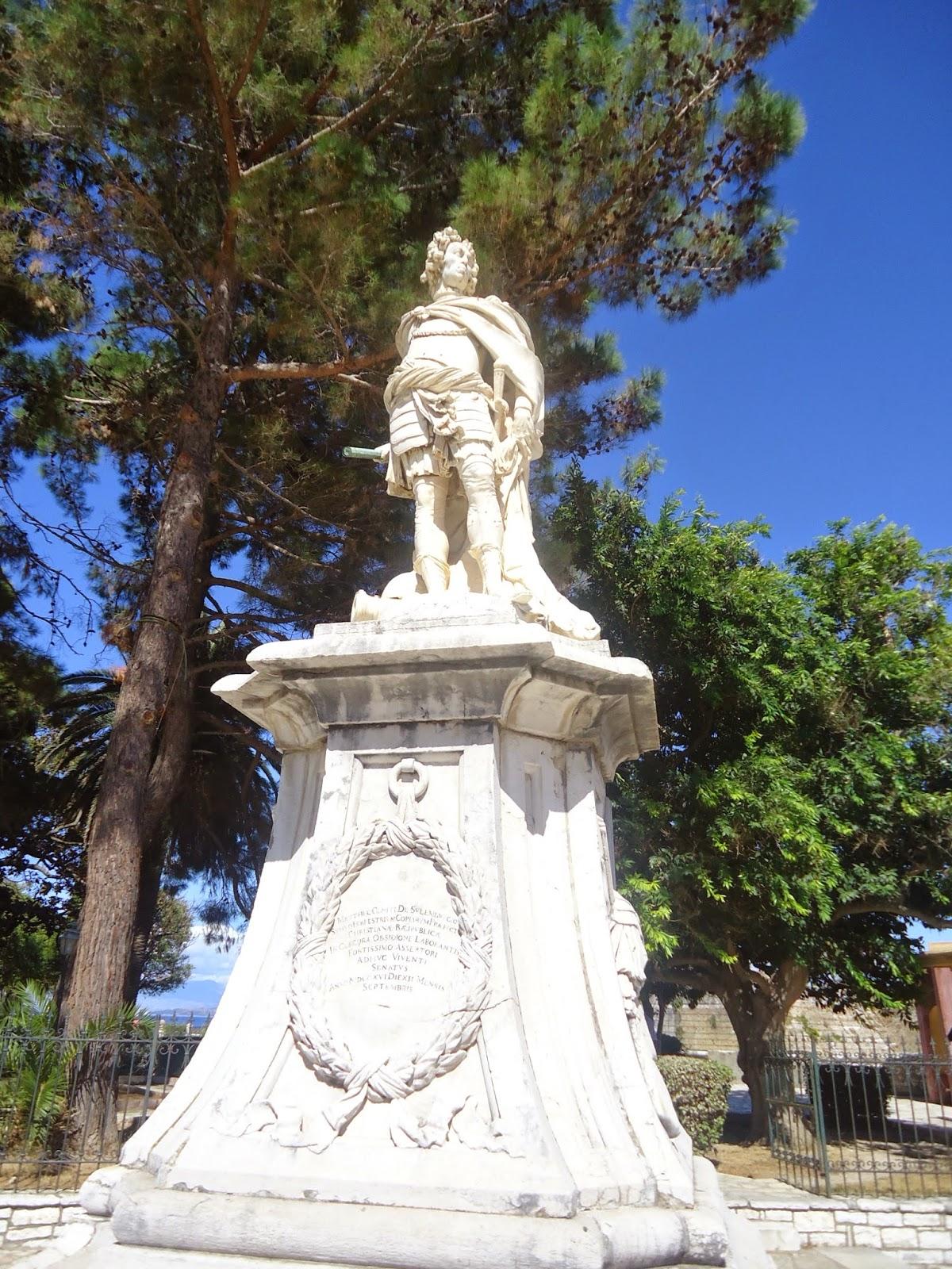 Corfu Town Statue