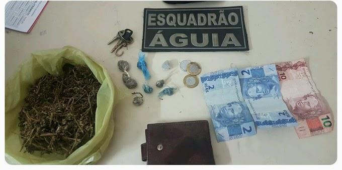ESQUADRÃO ÁGUIA  DETÉM DUPLA COM DROGAS NO BAIRRO SÃO FRANCISCO