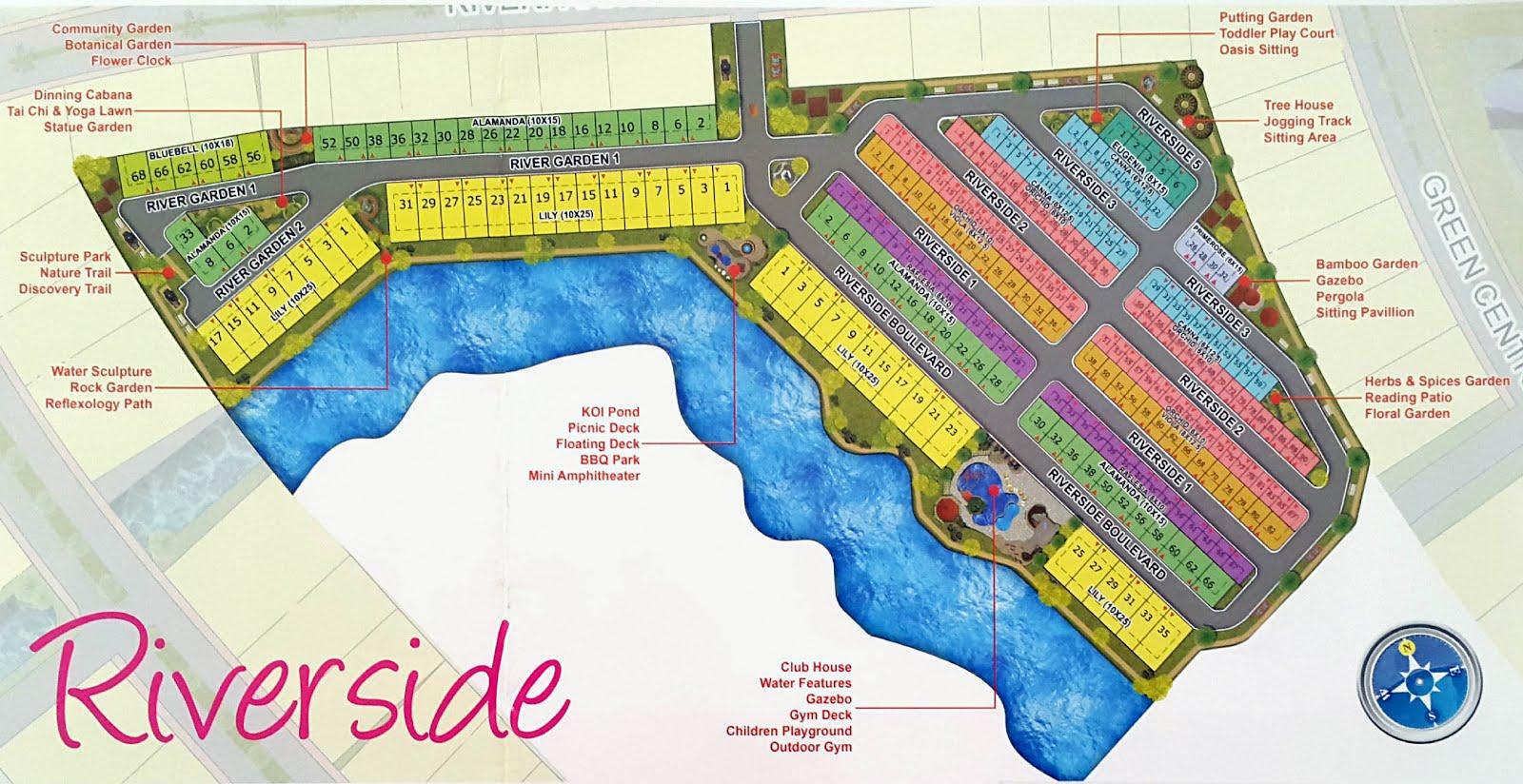 Site Plan Cluster Riverside PIK 2 Jakarta