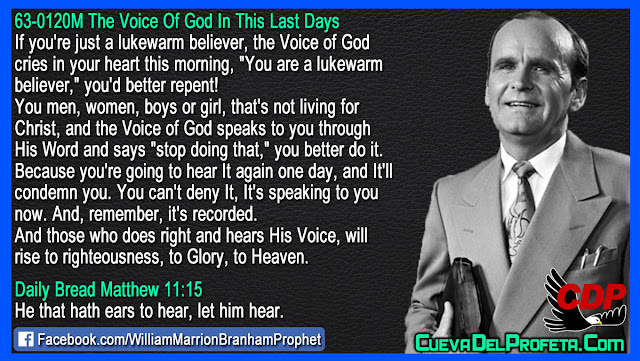 If you are a lukewarm believer you would better repent - William Branham Quotes