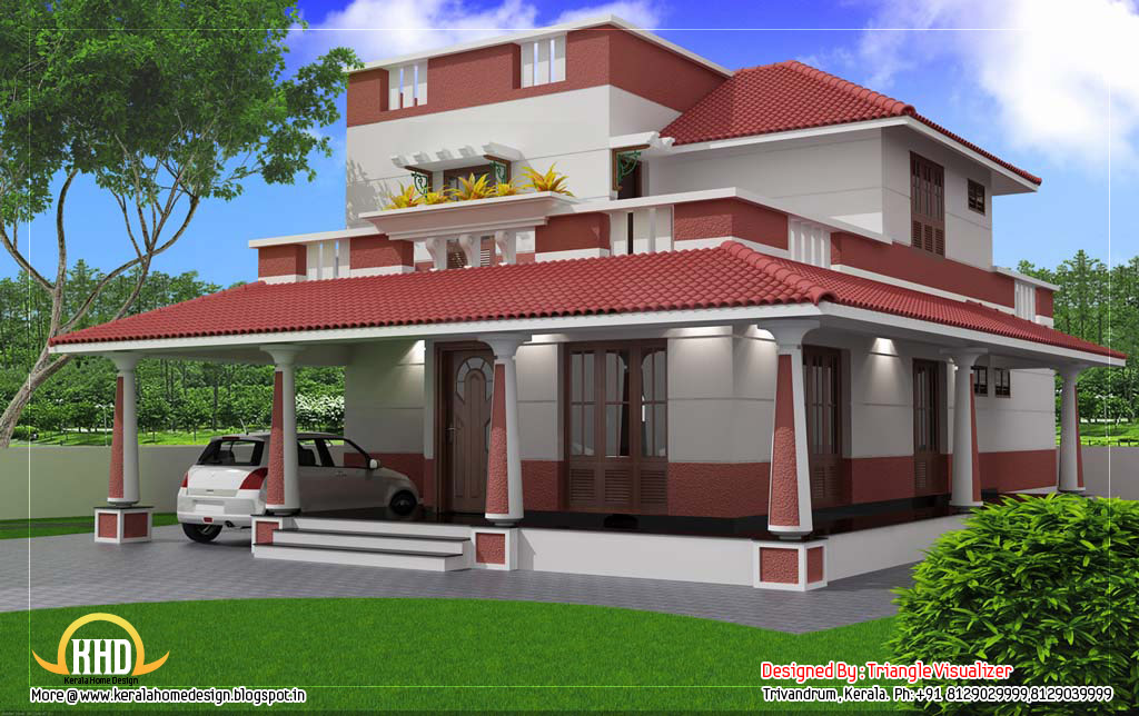 Traditional blend modern house 2000 sq feet kerala for Modern homes under 2000 sq ft