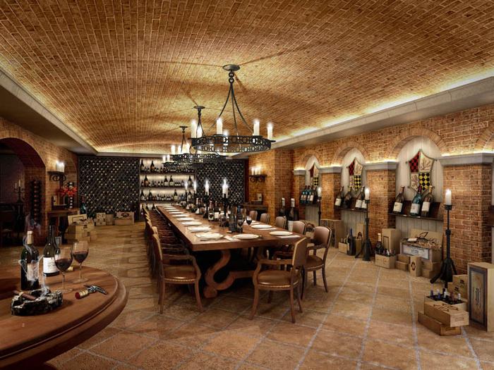 Spiral Wine Cellar Floor