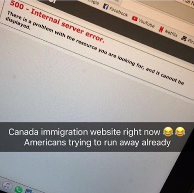 Canada's Immigration Site Crashes Due To Donald Trump's Imminent Victory
