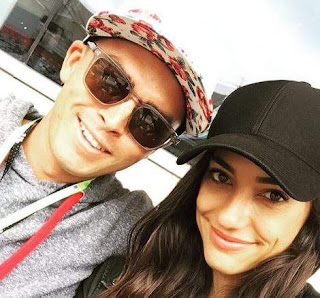 Rickie taking a selfie of him with his girlfriend Alison