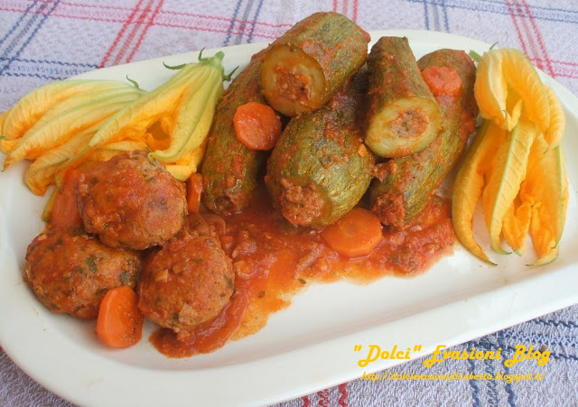 Zucchine Ripiene di carne alla Romagnola