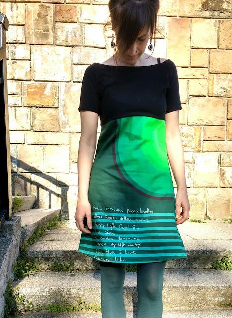 Rums : Vestido verde y negro