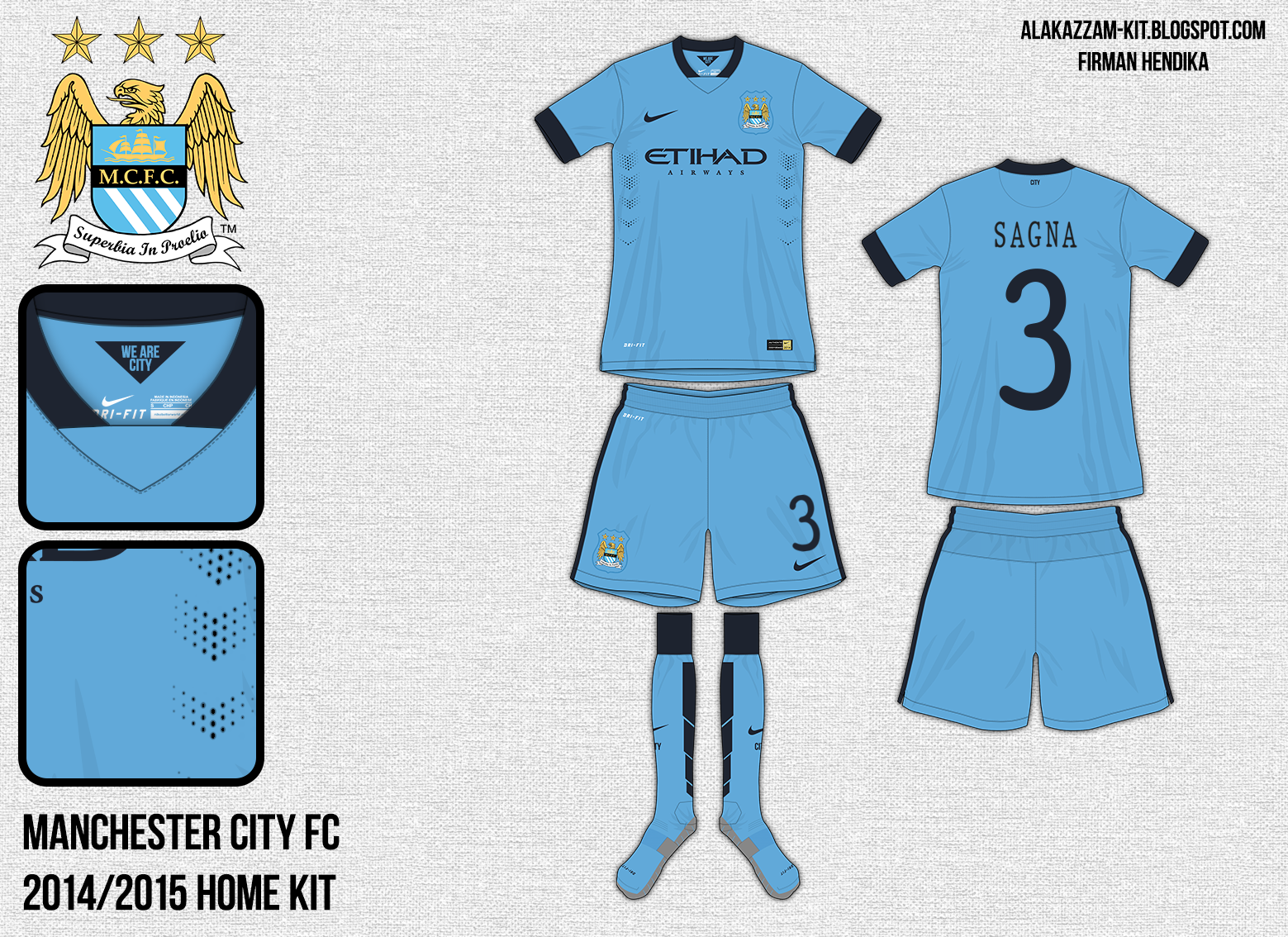 Download Manchester City Football Club 2014-2015 Home & Away Kits ...