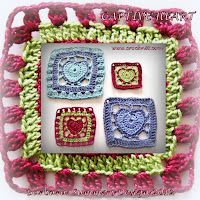 crochet patterns, how to crochet, hearts, granny square hearts, hearts afghans,
