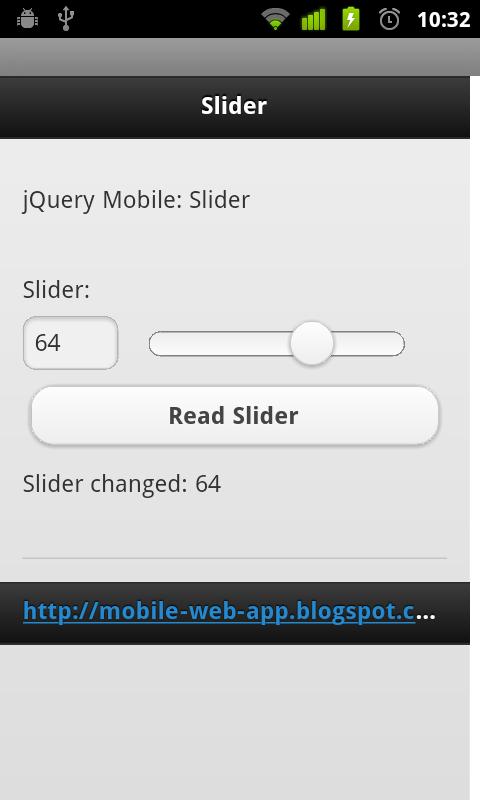 Mobile-Web-App: Handle Slider change event