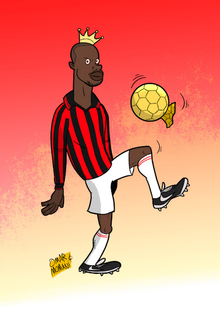George Weah cartoon caricature