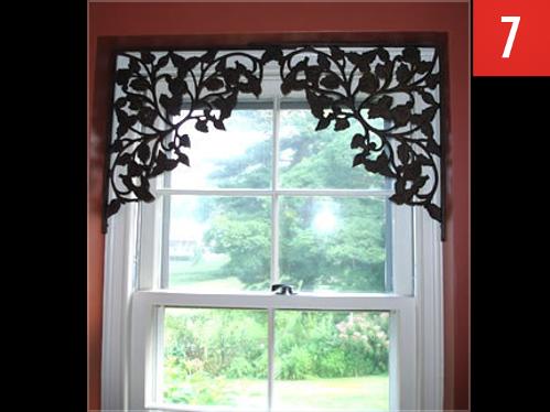 Use brackets to decorate a window
