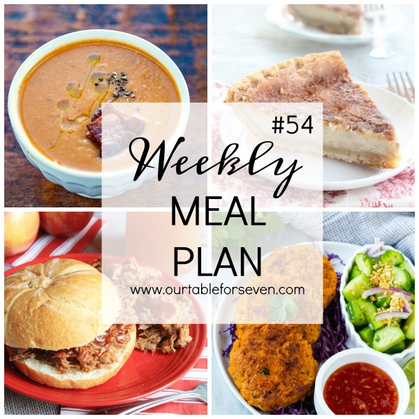 Weekly Meal Plan #54 from Table for Seven