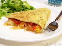 Omleta cu legume si mozzarella