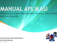 Download Manual Aplikasi Pendaftaran Peserta UN 2016 SD, SMP, SMA, SMK
