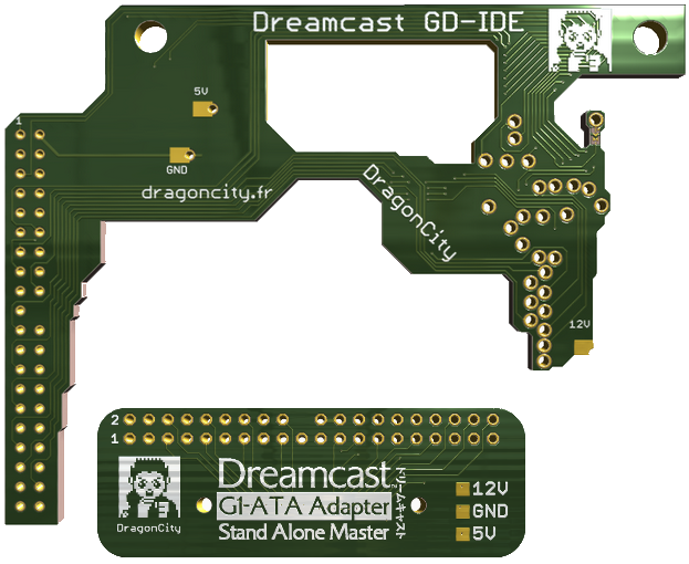 Dreamcast GD-IDE and ATA-G1 boards by DragonCity | ASSEMbler - Home