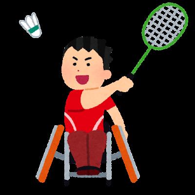 車椅子バドミントンのイラスト