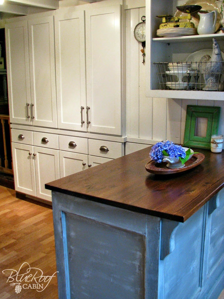 blue roof cabin: DIY Pantry Cabinet Using Custom Cabinet Doors