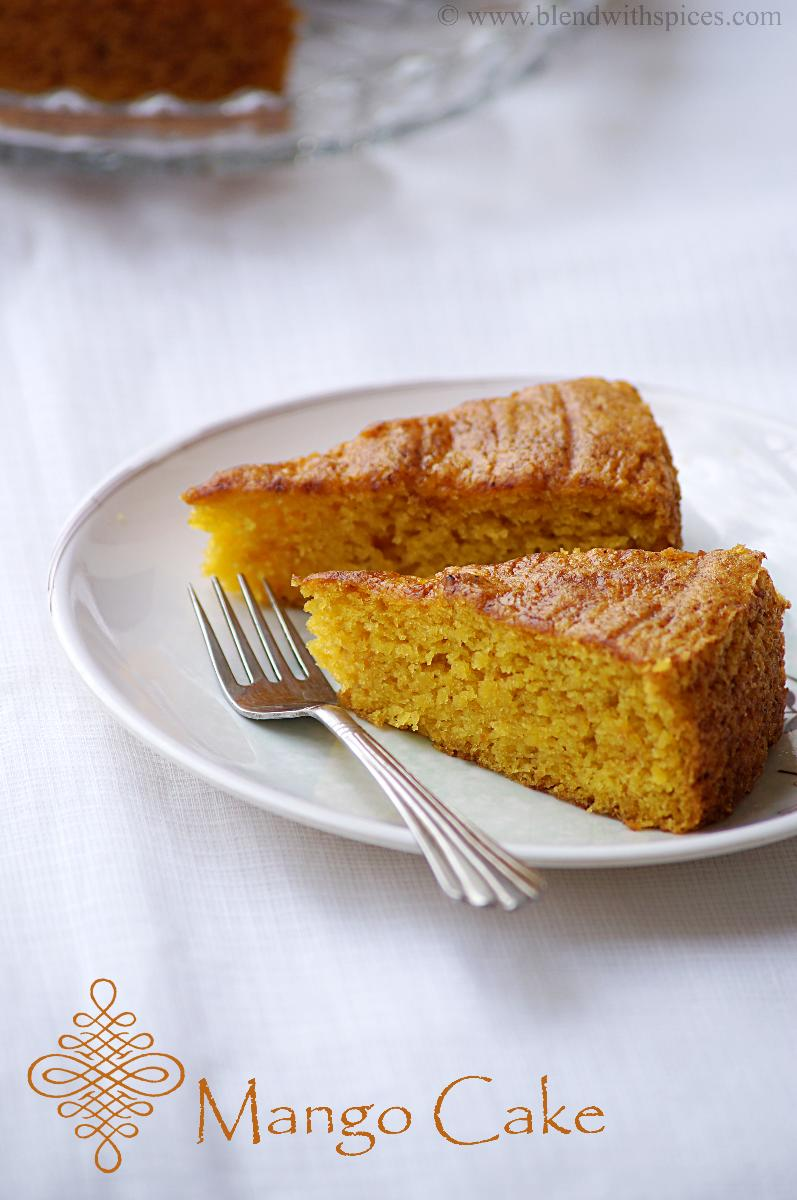 Vegan Mango Cake Recipe Eggless Step By Pictures